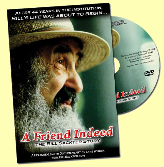 The Deluxe Edition DVD of A Friend Indeed - The Bill Sackter Story is available exclusively at Amazon.com