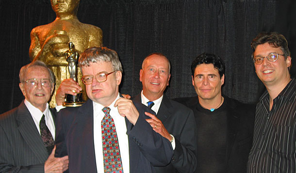 Fran and Kim Peek, Barry Morrow, Stephen Carnegie and Lane Wyrick at Salt Lake City screening